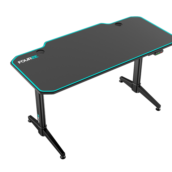 FOURZE D1400-E gaming desk adjustable, seen from the left top