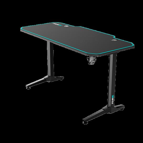 FOURZE D1400 Cyan Gaming Skrivebord produktbillede set fra højre side