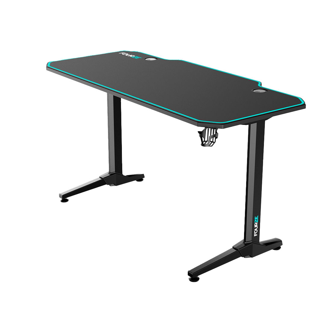 FOURZE D1400 Cyan Gaming Desk product image seen from the right side