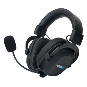 FOURZE GH500 Gaming Headset product image seen from the left side, with microphone attached.