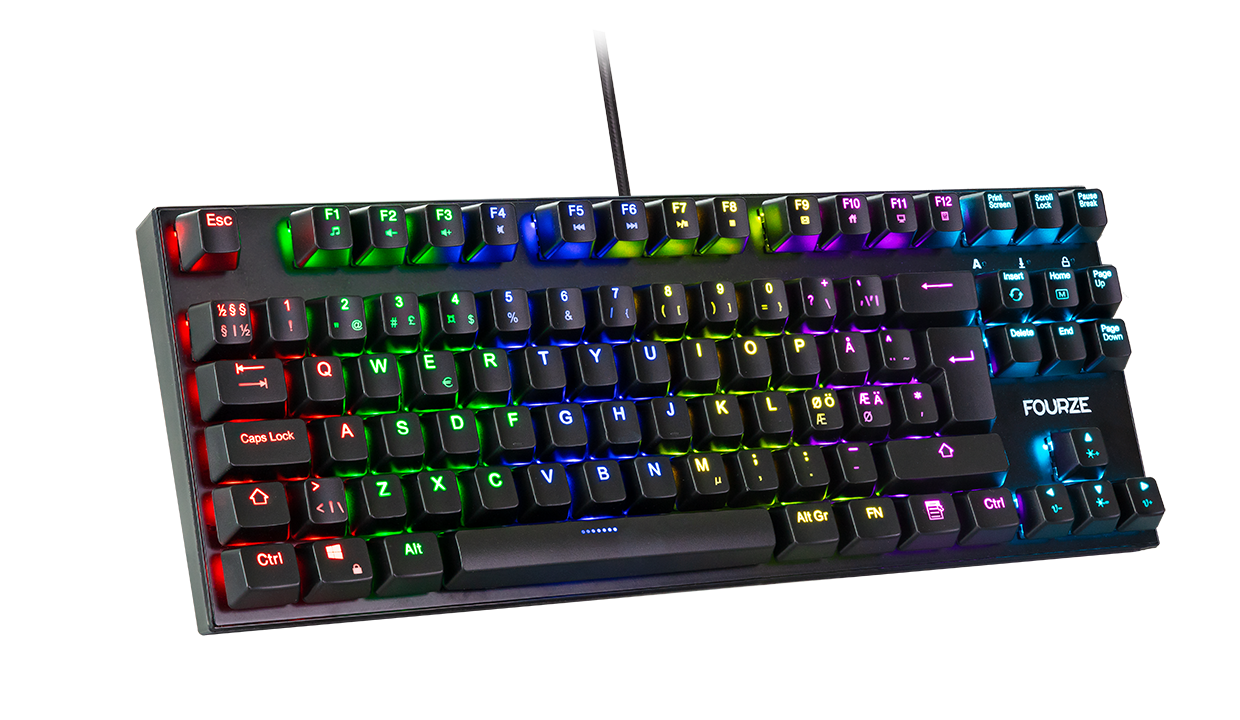 FOURZE GK140 Red Switch Mechanical Gaming Keyboard product image with RGB.