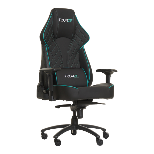 FOURZE Select Gaming Chair product image seen from the right. Shown with lumbar pillow.