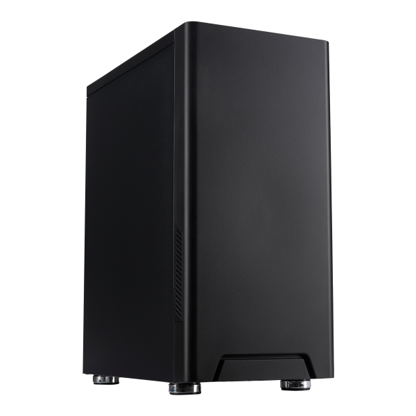 FOURZE T100 Silent Gaming Case product image. Seen from the left front.