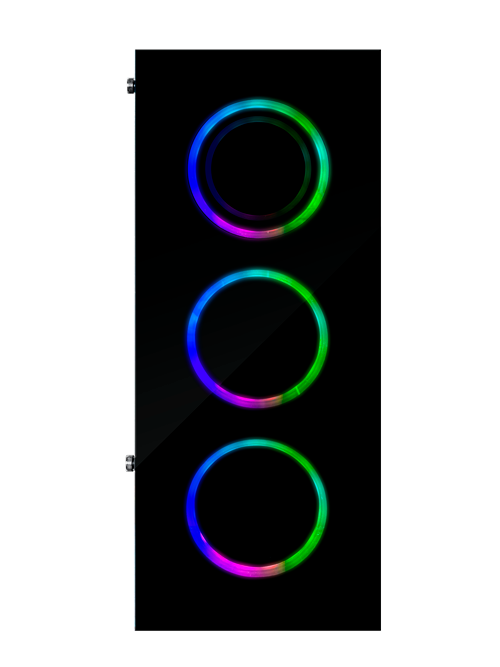 FOURZE T760 RGB Gaming Case product image, seen from the front.