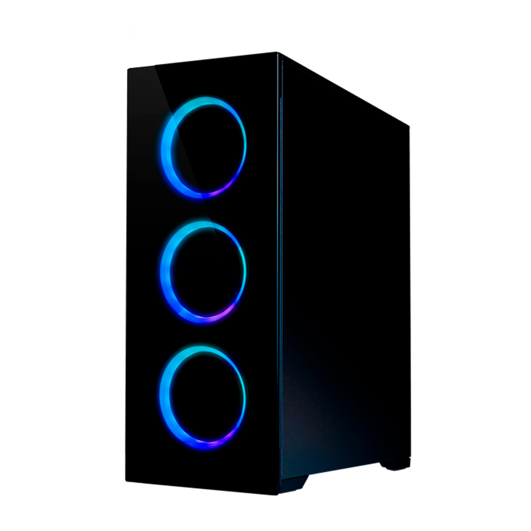 FOURZE T760 RGB Gaming Case product picture, seen from the right front side.